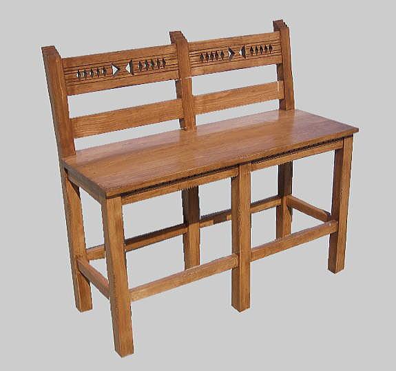 Southwestern furniture bars and bar stools : santa20fe20bench from www.elpasorugs.com size 575 x 538 jpeg 37kB