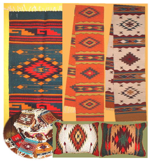 Vintage Mexican Zapotec Rug In Small Size With Stylized: Mexican Premium Zapotec Rugs