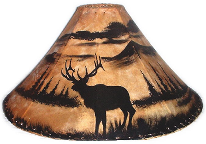 Silhouette Western Painted Lamp Shades
